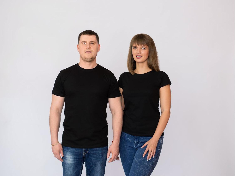 Парные футболки премиум Без дизайна