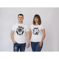 Парные футболки Лев и Львица
