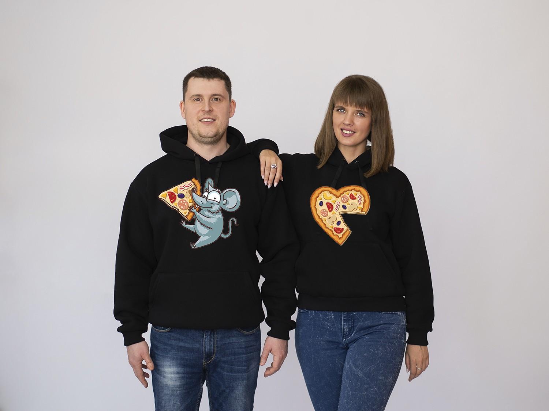 Парные толстовки Мышка с пиццей